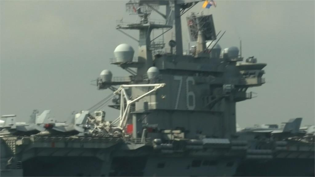 為G20川習會鋪路!美航空母艦停靠香港碼頭