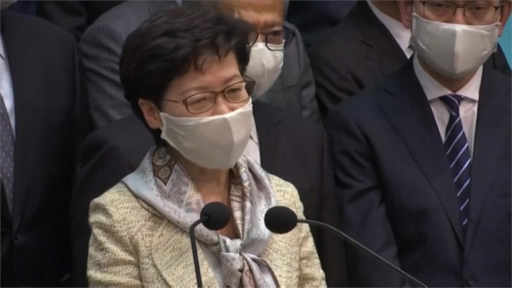 林鄭月娥自北京返港 隨即向港人推銷國安法