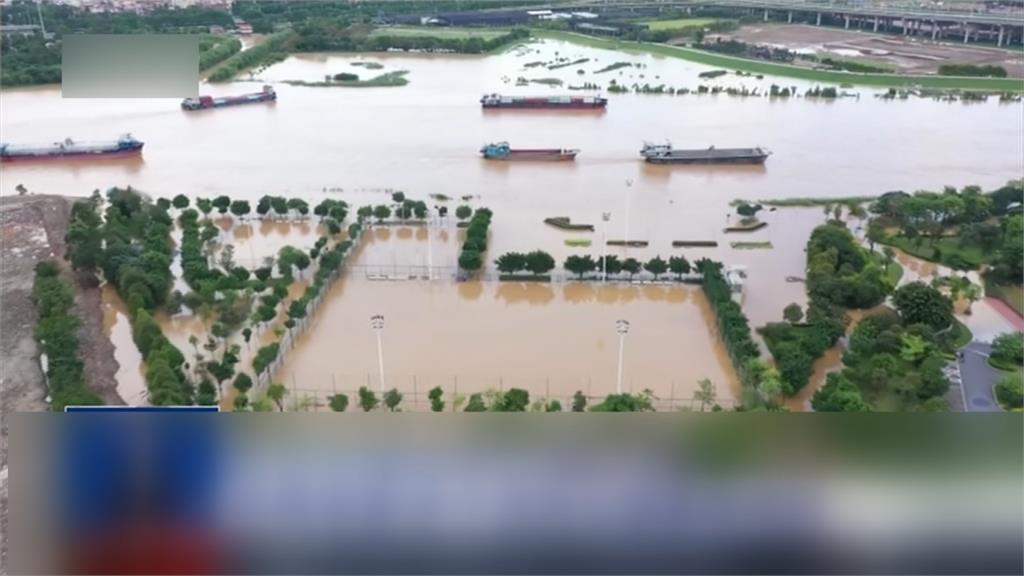 中國148條河洪水警戒!廣東、廣西一片汪洋
