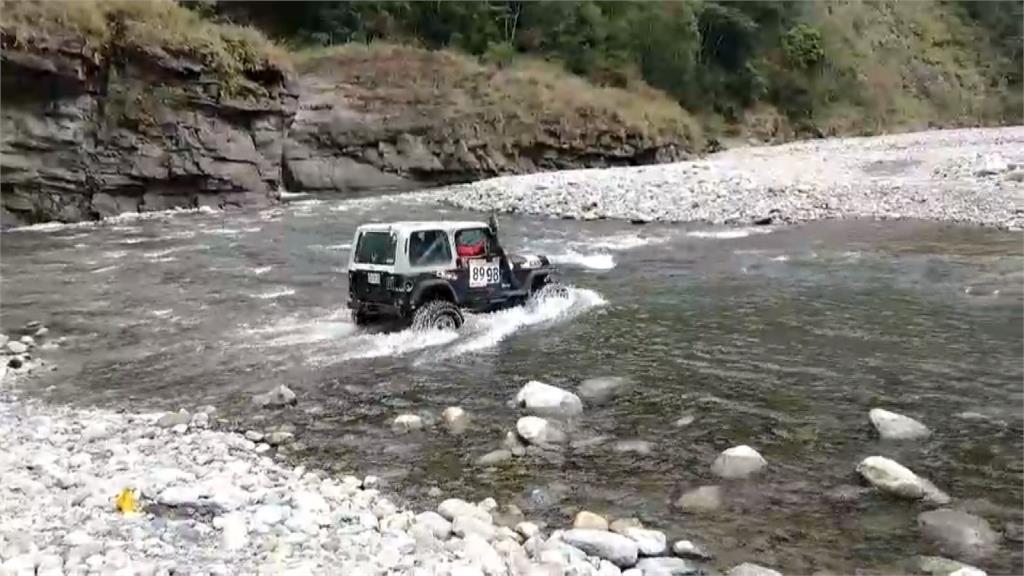 2男泡野溪溫泉受困 空拍機、吉普車急救援