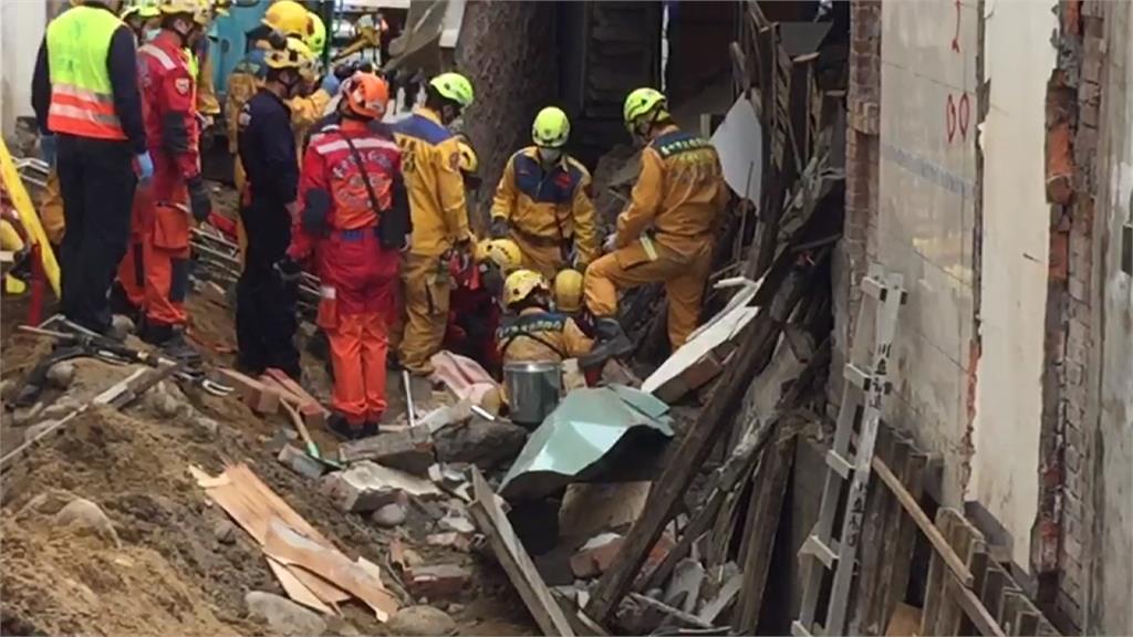台中工地外牆倒塌 工人遭埋傷重不治