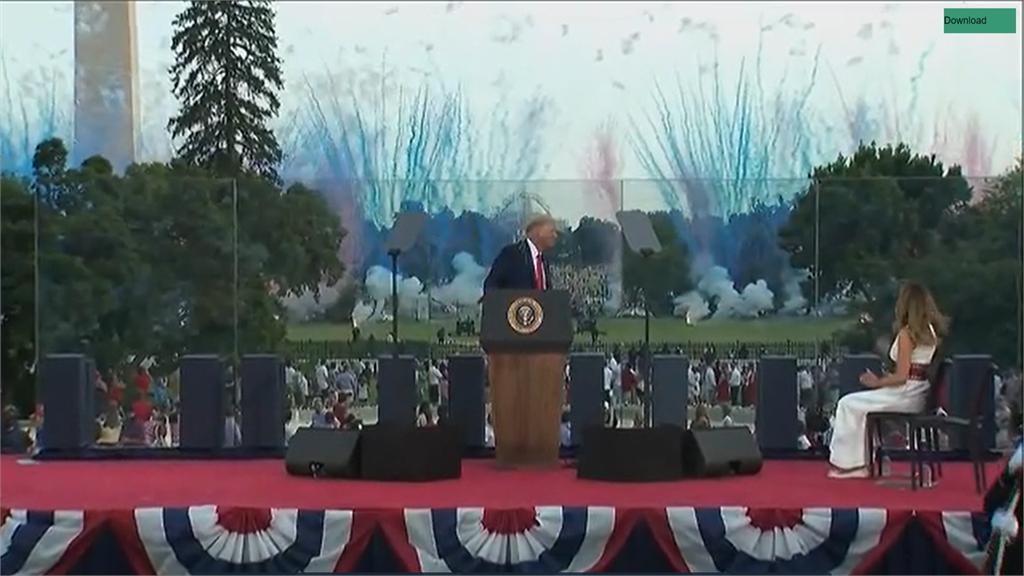 美國獨立日244周年  白宮南草坪盛大慶祝