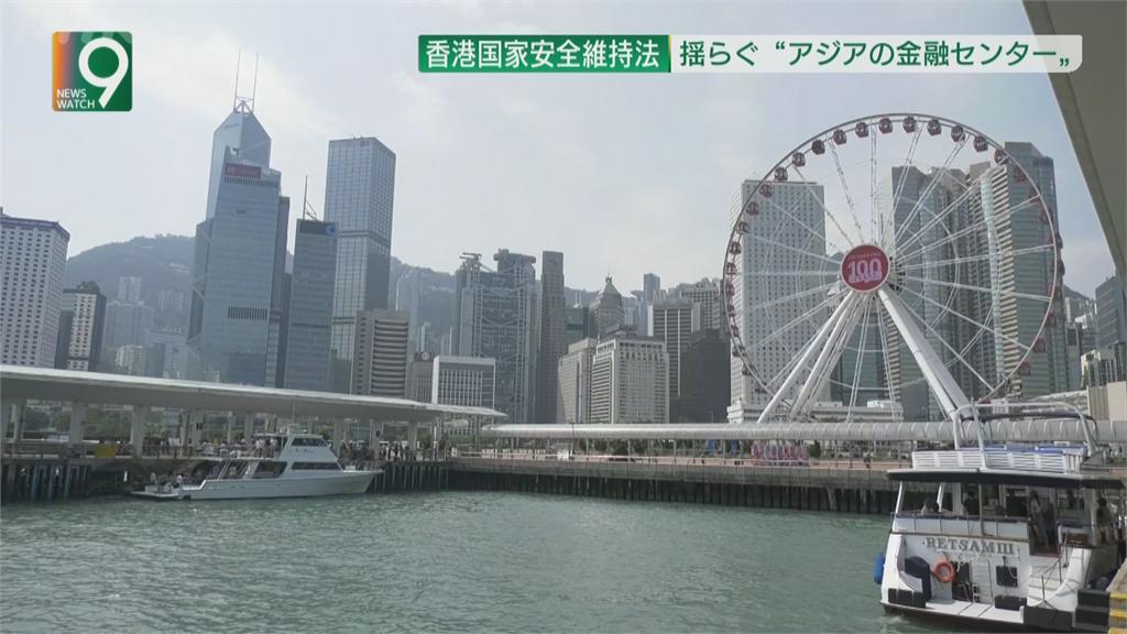 港區國安法正式實施 恐動搖香港金融中心地位