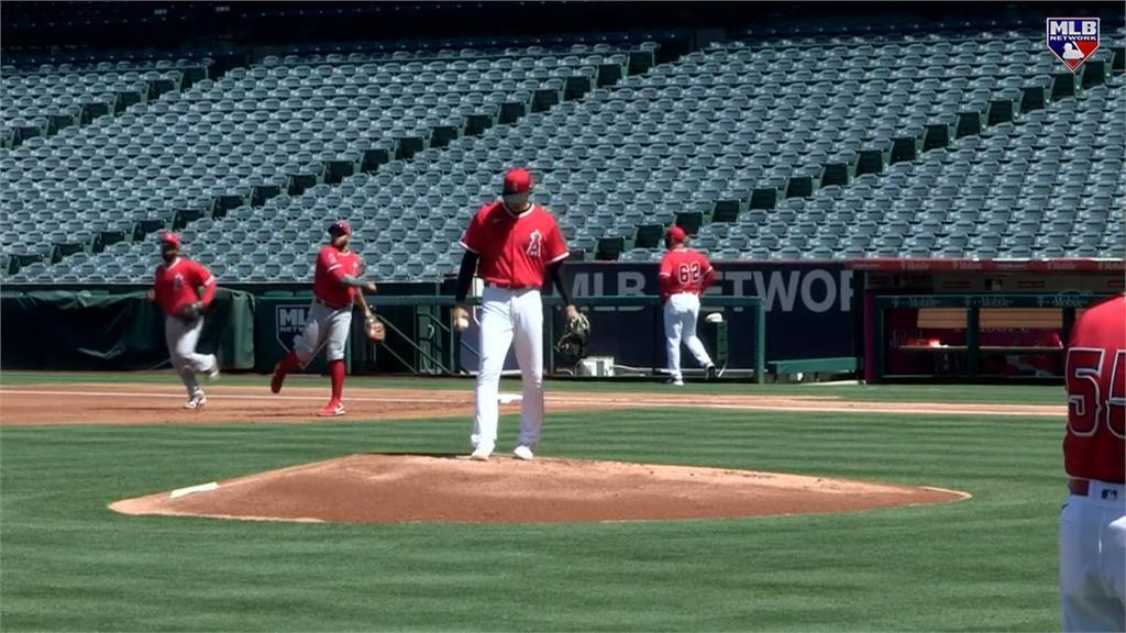 MLB/大谷練習賽二度登板 五次保送還在找準星