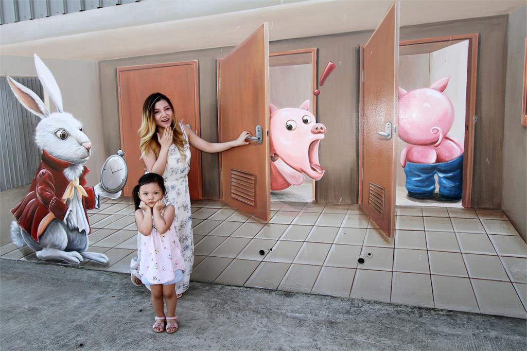 3D彩繪奇趣滿滿  桃園新夜市「童話市集」攻兒童商機