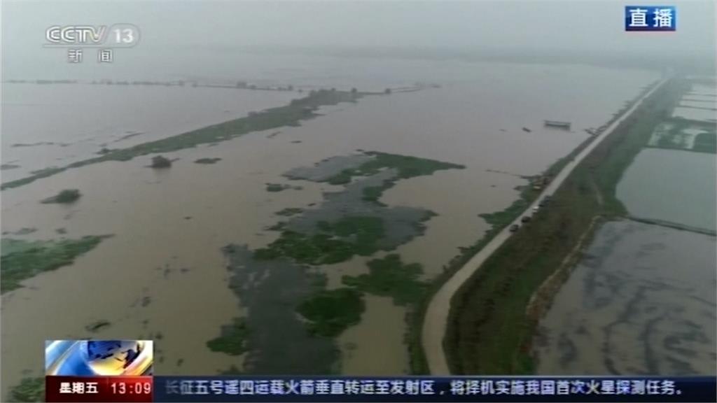 中國水患續燒 三峽大壩水位超過160公尺