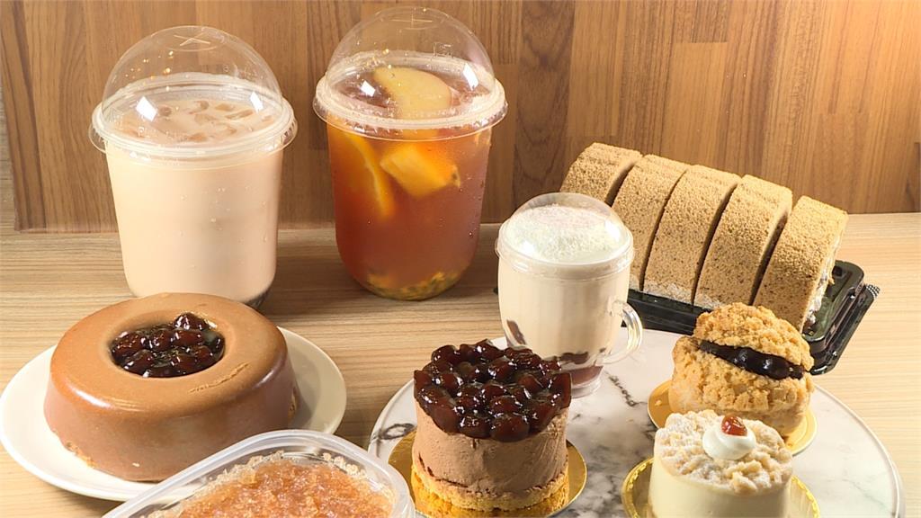 超市與紅茶跨界聯名 珍奶變身香甜蛋糕