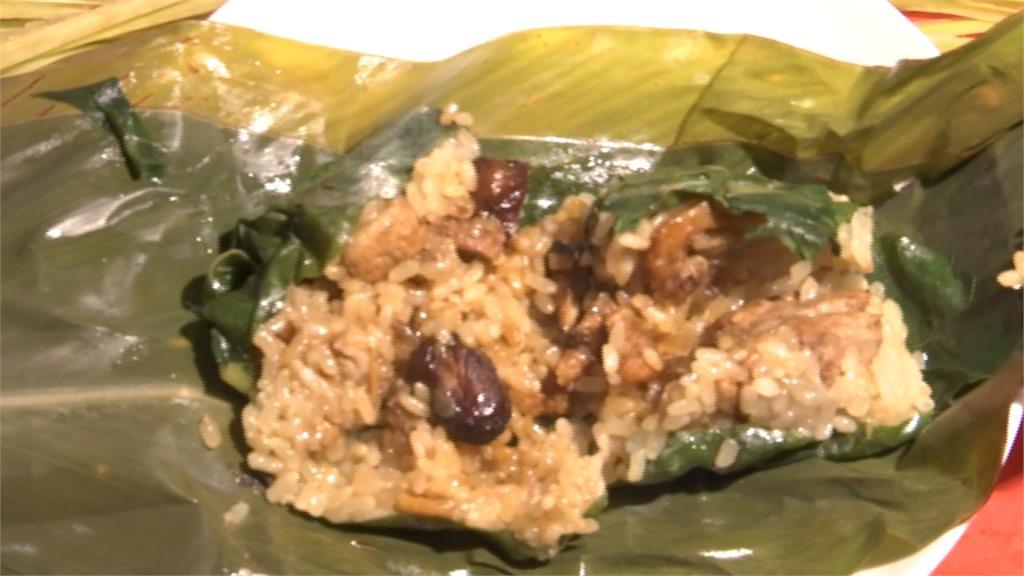 卑南族傳統肉粽「阿拜」 月桃葉包裹清香爽口