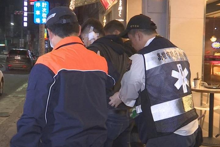 高雄夜不寧 男子咖啡店前遭暴徒圍毆砍傷