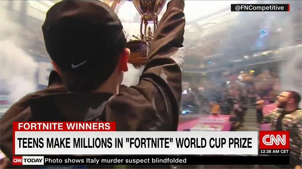 「要塞英雄」世界盃決賽 16歲男奪冠獲300萬美元