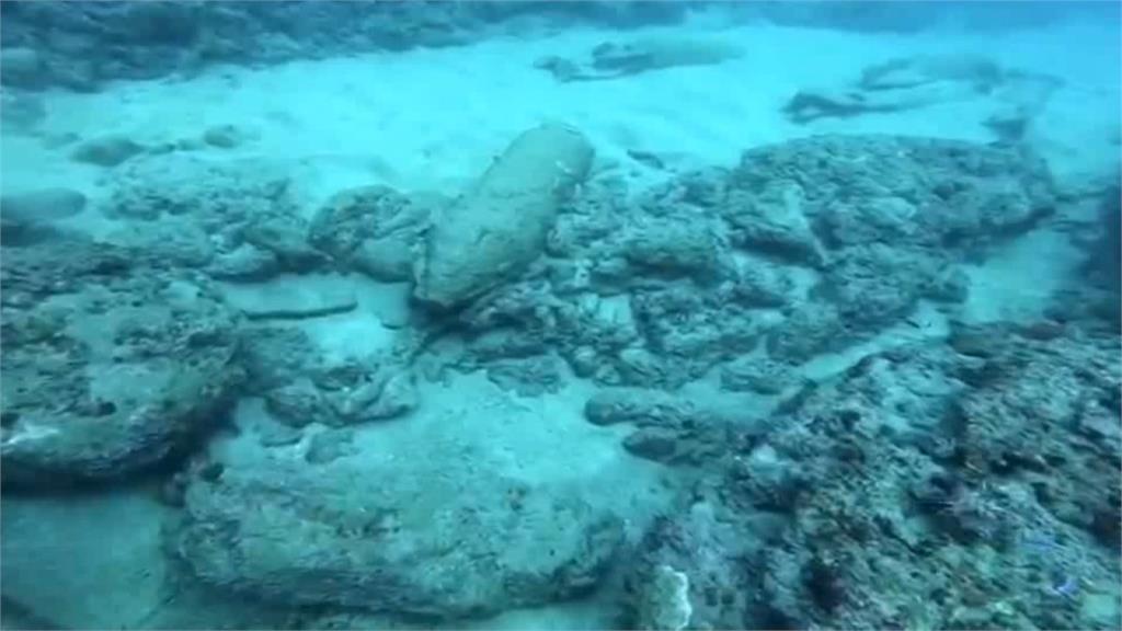 嚇!潛水客入海驚見炸彈 海巡清查共13顆