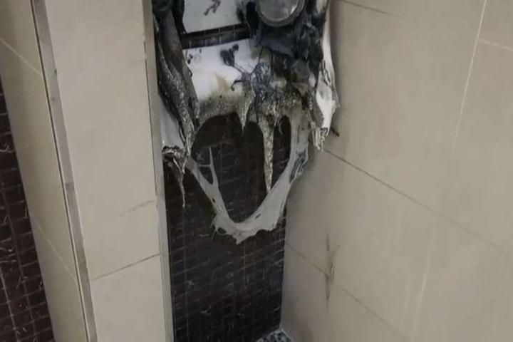 桃園機場男廁驚傳火警 疑人為縱火