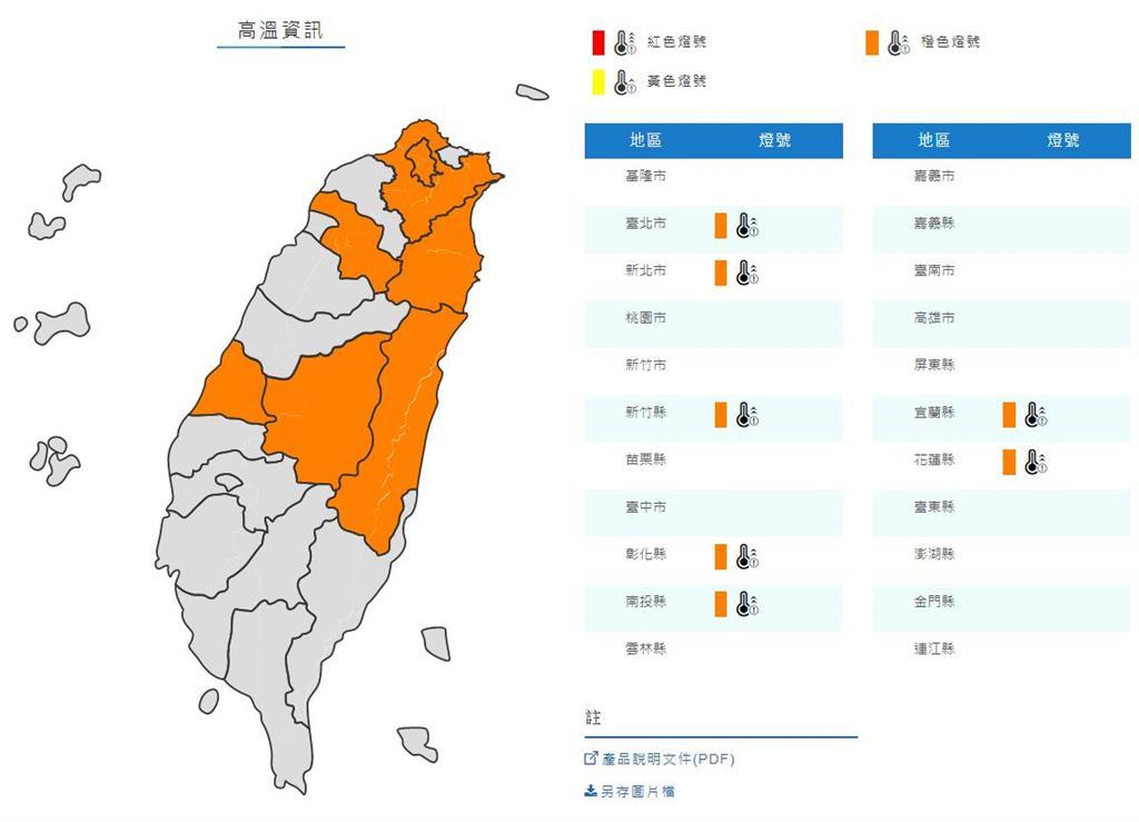 [2020/07/15]7縣市高溫警示!台南、高雄受低壓影響局部大雨