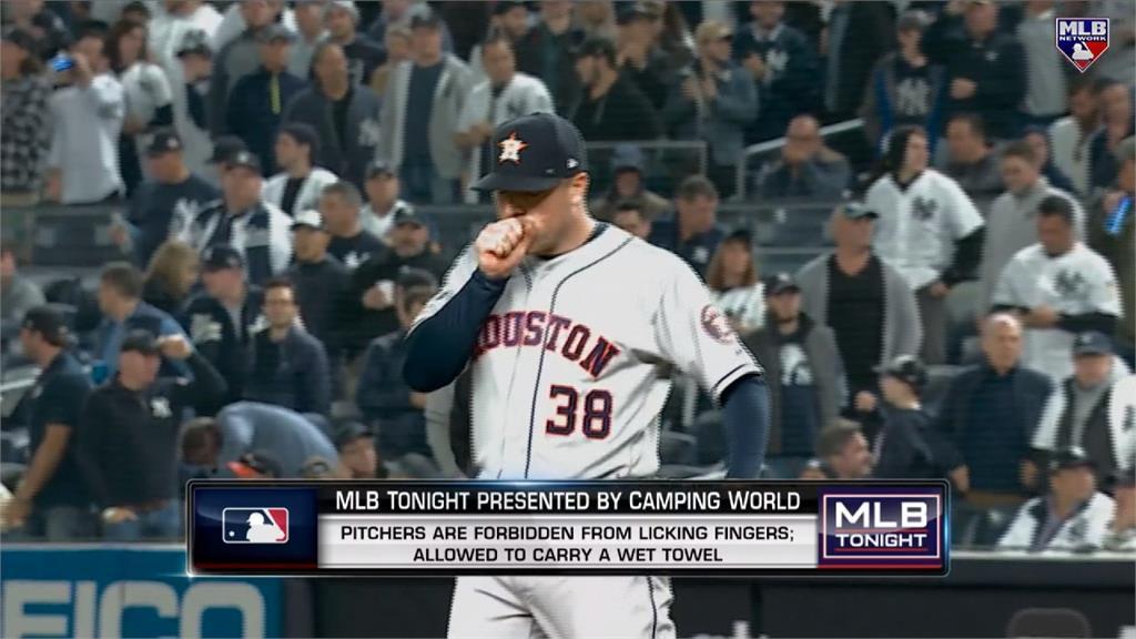 MLB/大聯盟防疫新制!投手禁止用手觸摸嘴巴