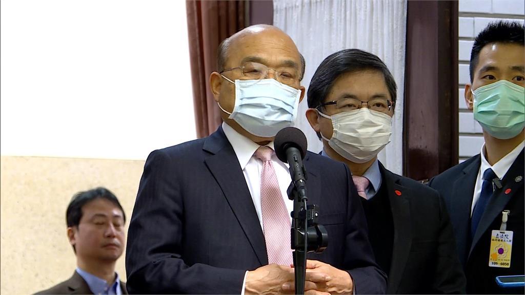 快新聞/台灣維持不普篩 蘇貞昌:去人口密集場所請戴上口罩