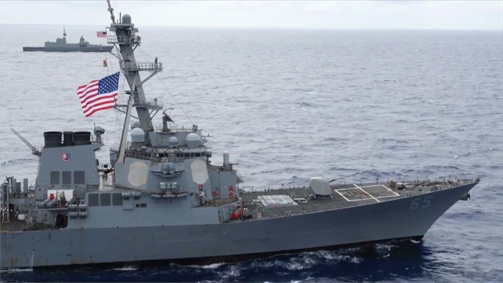 美加大挺台力道 艦隊七度通過台海