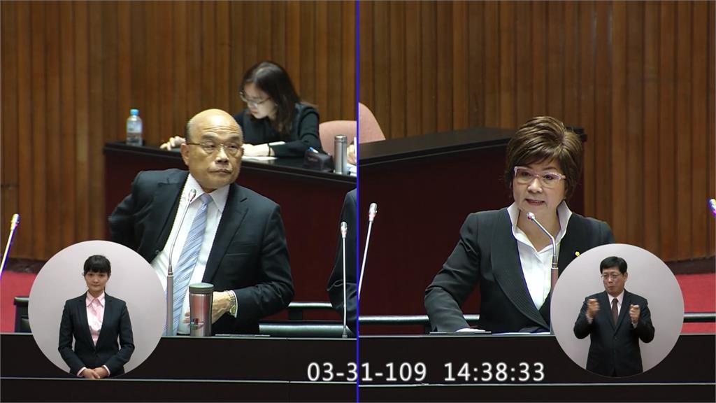 「LULU立委」問台灣缺水否?蘇揆保證「水絕對夠用」