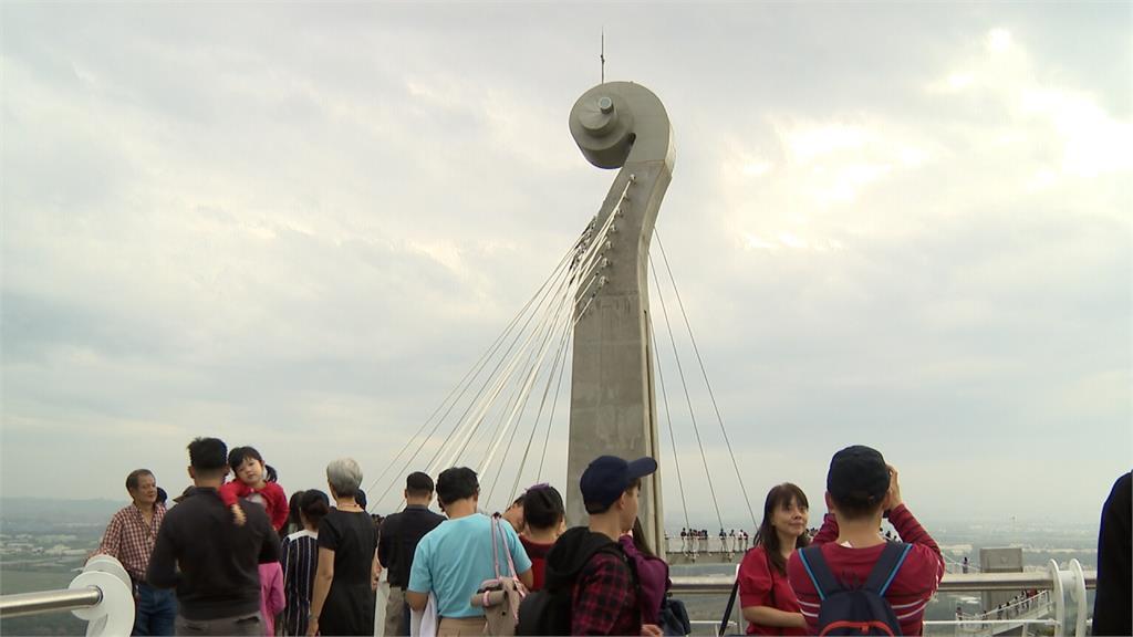 崗山之眼重新開張 大批遊客朝聖