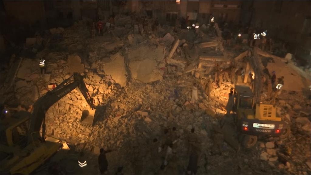 喀拉蚩5層樓公寓倒塌 釀14死6人受傷