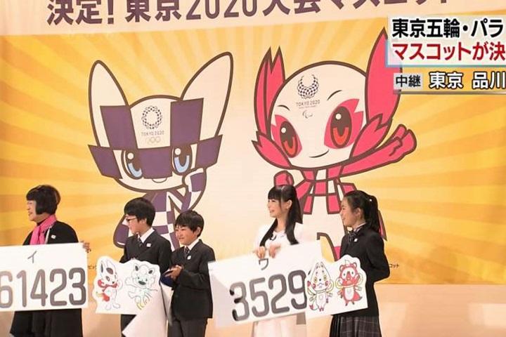 史上首次小學生票選!東京奧運吉祥物出爐
