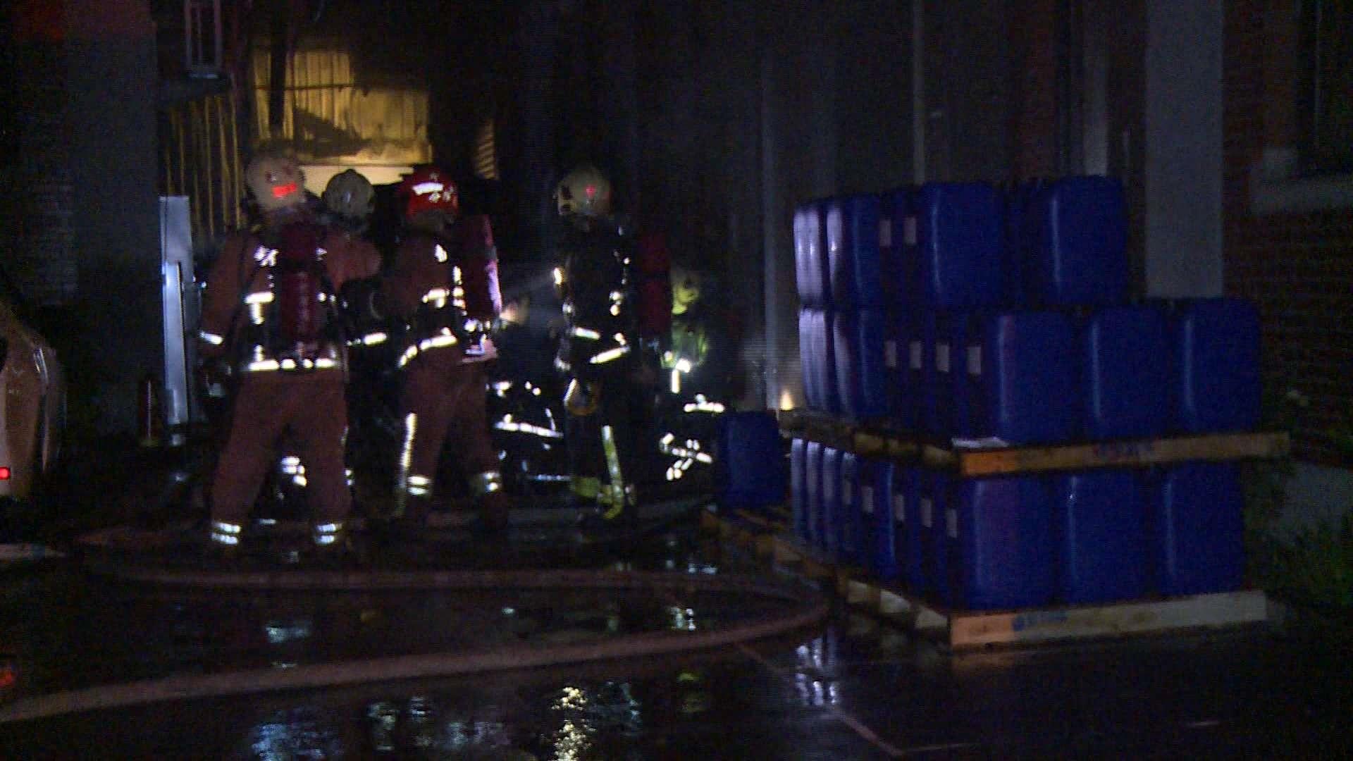 林口電子工廠暗夜火警 幸及時控制無人傷