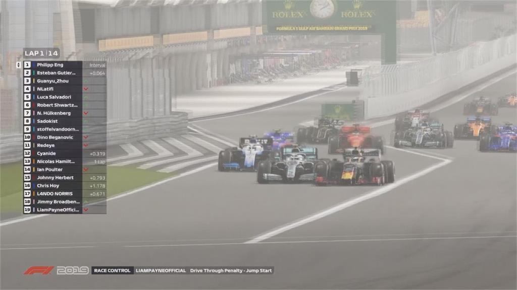 F1前八站無法開賽!電競虛擬大獎賽至少飆到5月
