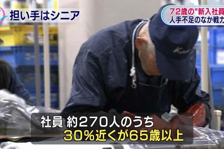 日本青壯年勞動力不足 銀髮族就業人數成長