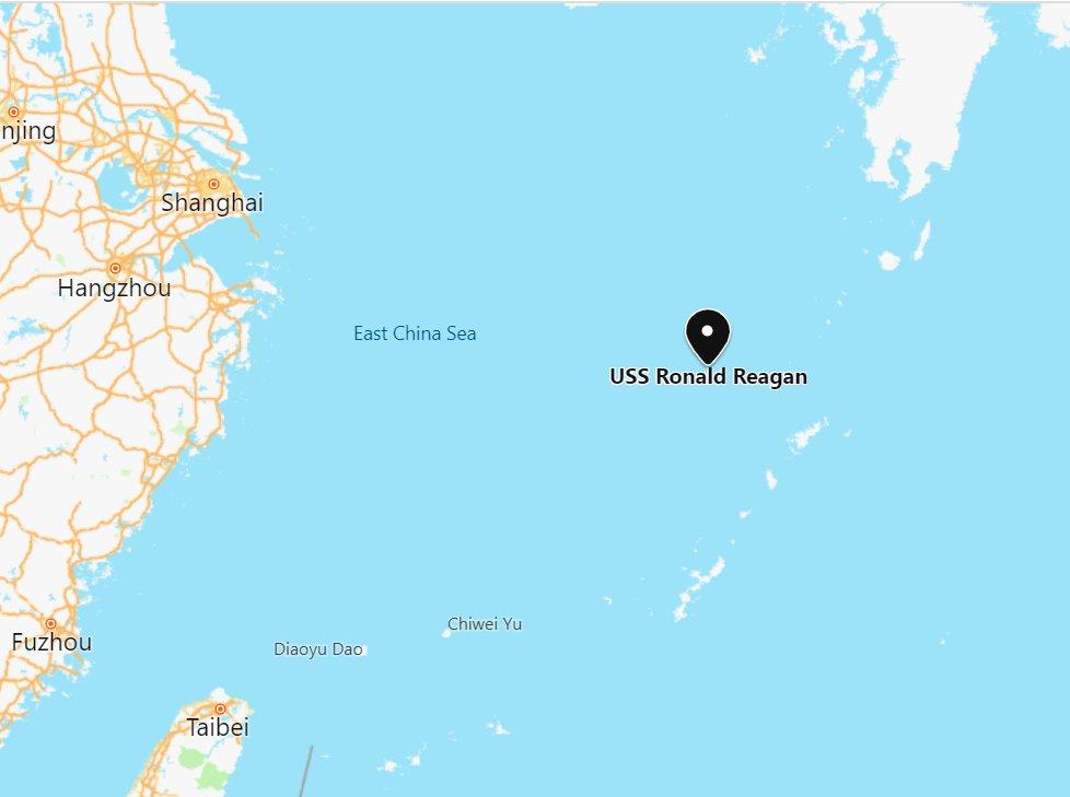 快新聞/美衛生部長阿札爾傍晚抵台 航空母艦「雷根號」東海巡弋