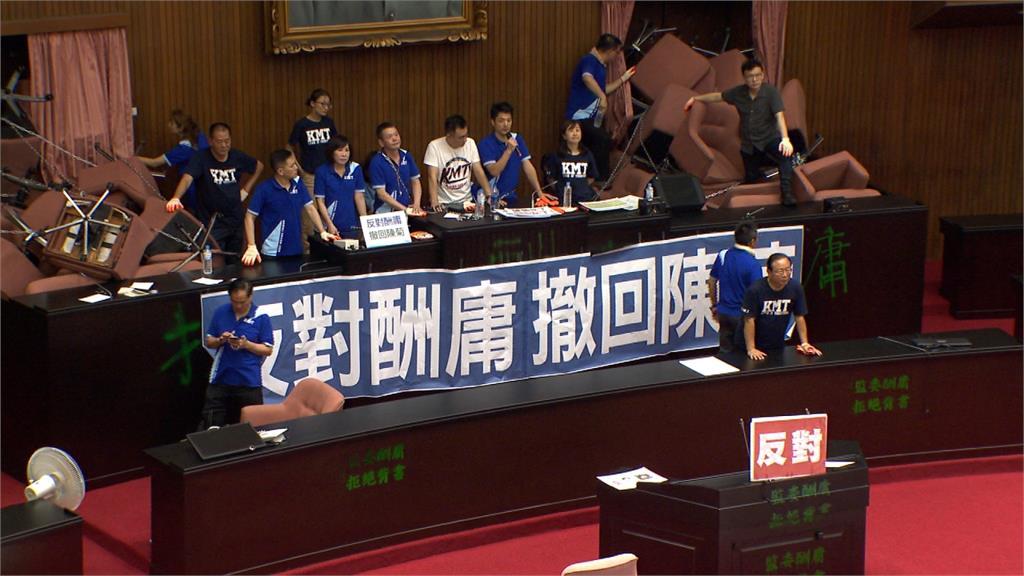 國民黨強佔議場抗議!柯建銘嗆監察院長絕不換人