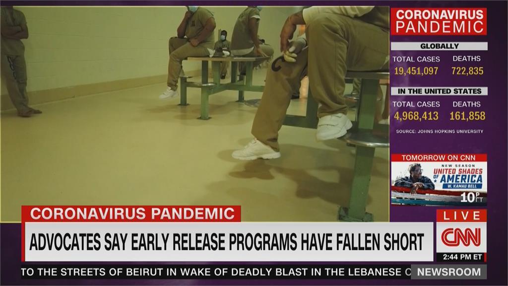 美國監獄逾萬名受刑人染疫 環境擁擠、防疫不足爆群聚