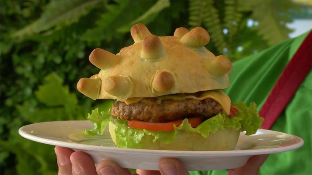 害怕的時候就吃掉它!越南推出病毒漢堡 大口咬下盼戰勝疫情