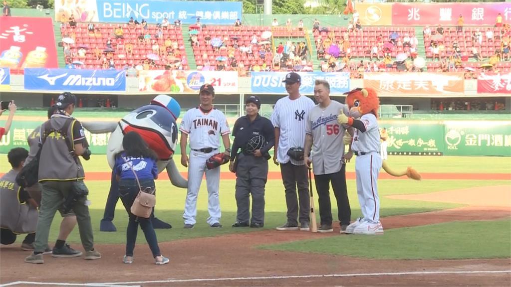 美國日棒球賽移師台南 王建民、郭泓志再現世紀同場