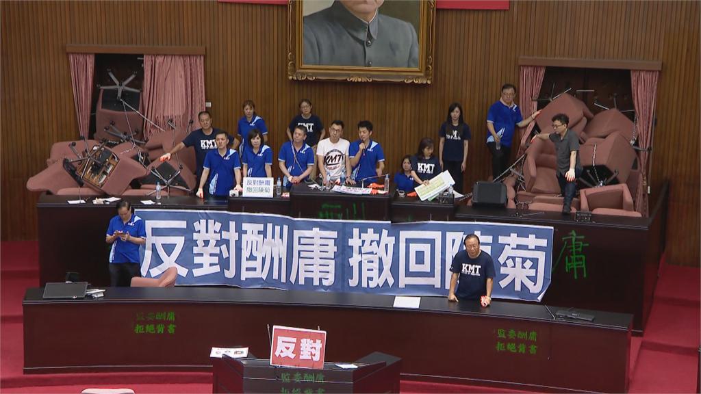 快新聞/府方批把民主當人質 國民黨:陳菊不代表這個國家的民主