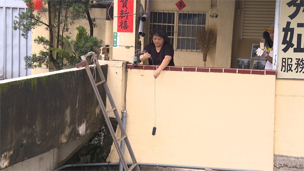 淹水淹怕了!烏日樹王埤居民設「水位警報器」