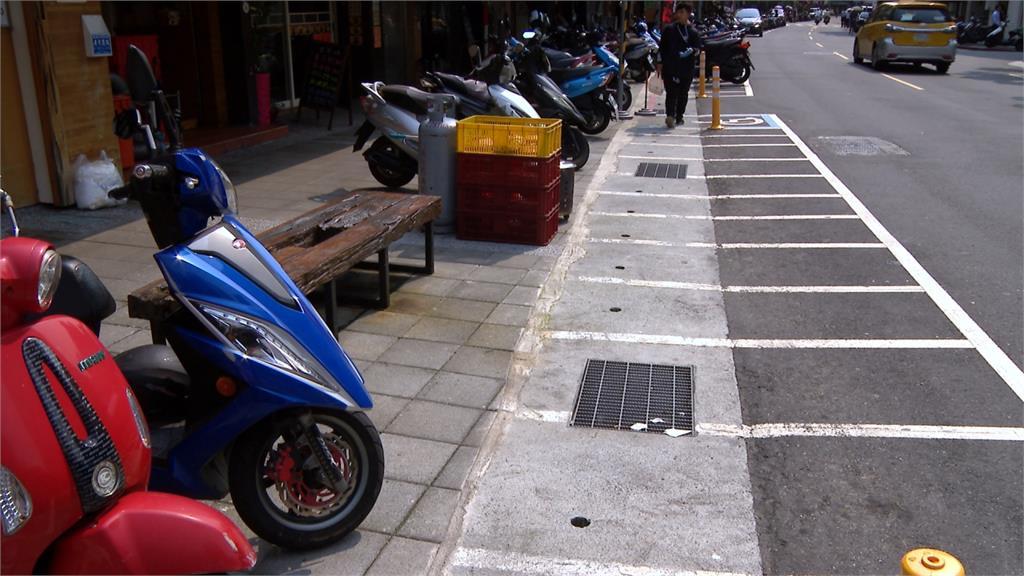 江南街餐飲業多 機車格收費沒人停