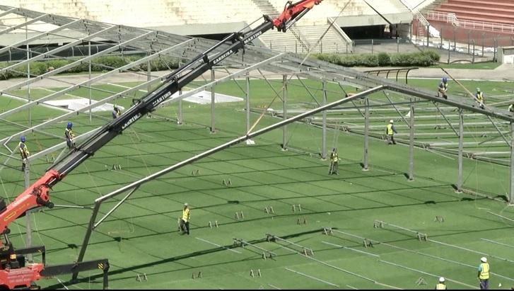 巴西體育場改建成醫院 收治武肺輕症病患