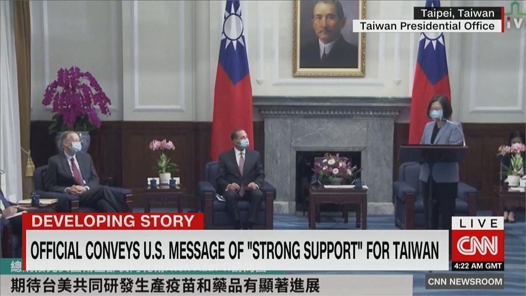 美衛生部長拜會蔡總統 CNN派團隊赴台灣觀察