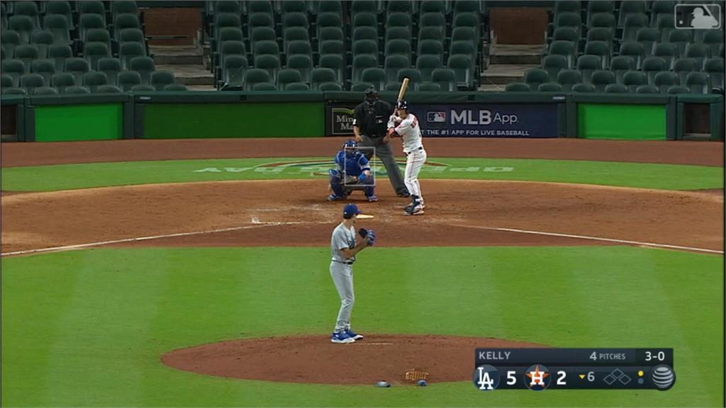 MLB/投近身球報復太空人?道奇凱利遭禁賽8場