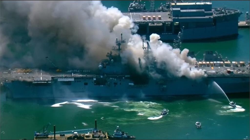 美軍兩棲攻擊艦「好人理查號」起火釀21傷 原因待釐清