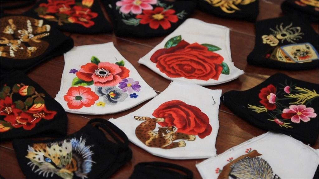 手工縫製三天完工!越南傳統刺繡口罩一個台幣630元