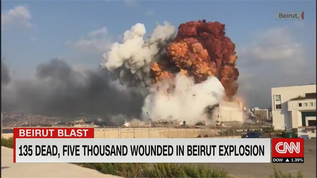 黎巴嫩爆炸瞬間 牆震人倒 宛如末日 民眾心有餘悸