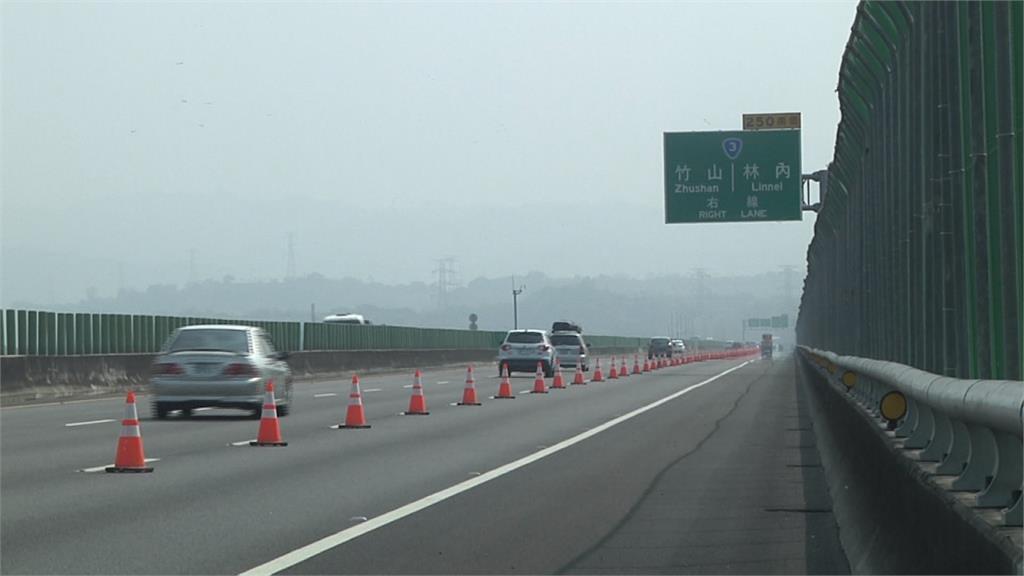 紫斑蝶來了!國三觸口段側車道緊急封閉