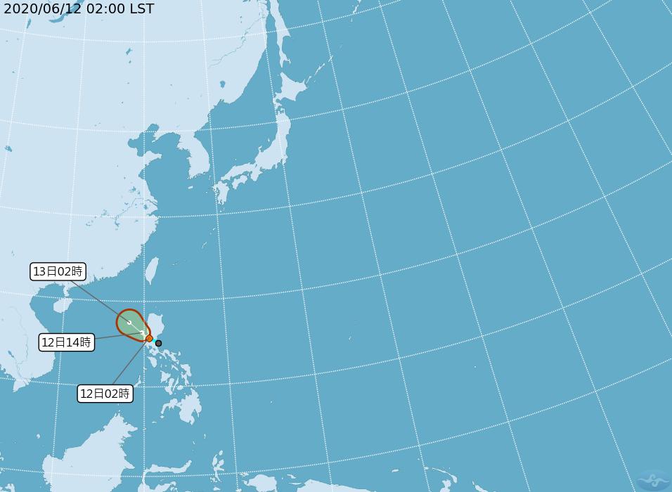 [2020/06/12]熱帶性低氣壓外圍雲系帶來水氣 這兩地區要注意
