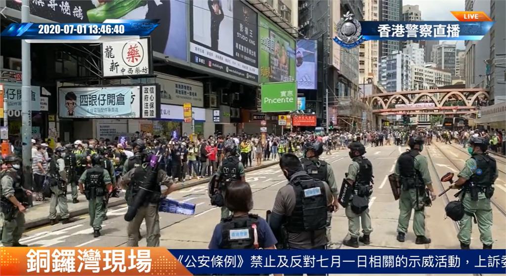 快新聞/首例!港人身帶「香港獨立」旗幟 涉嫌違反「港區國安法」遭逮