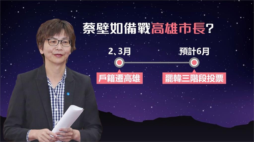 蔡壁如遷戶籍是為高雄市長補選布局?吳益政:還沒有決定
