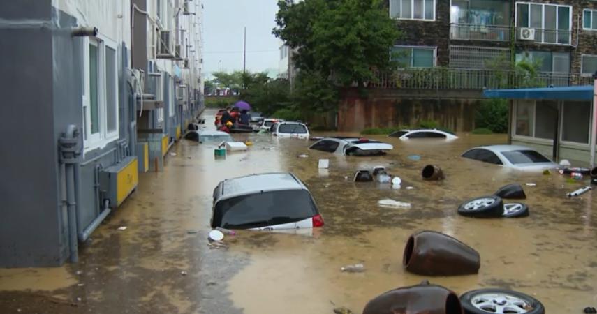 南韓今日降下恐怖暴雨 五死五失蹤
