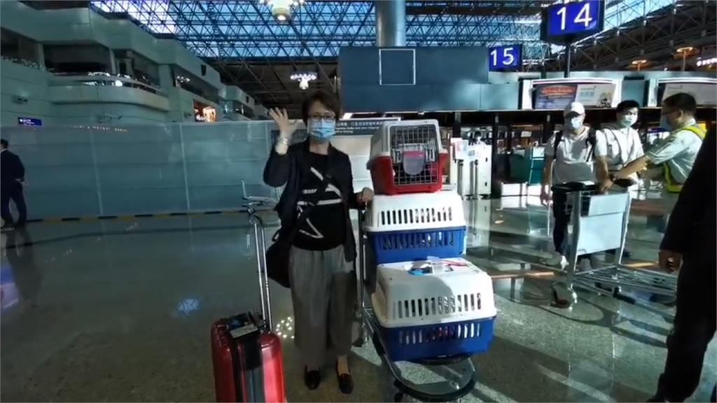 機場心繫愛貓 蕭美琴赴美站上外交第一線