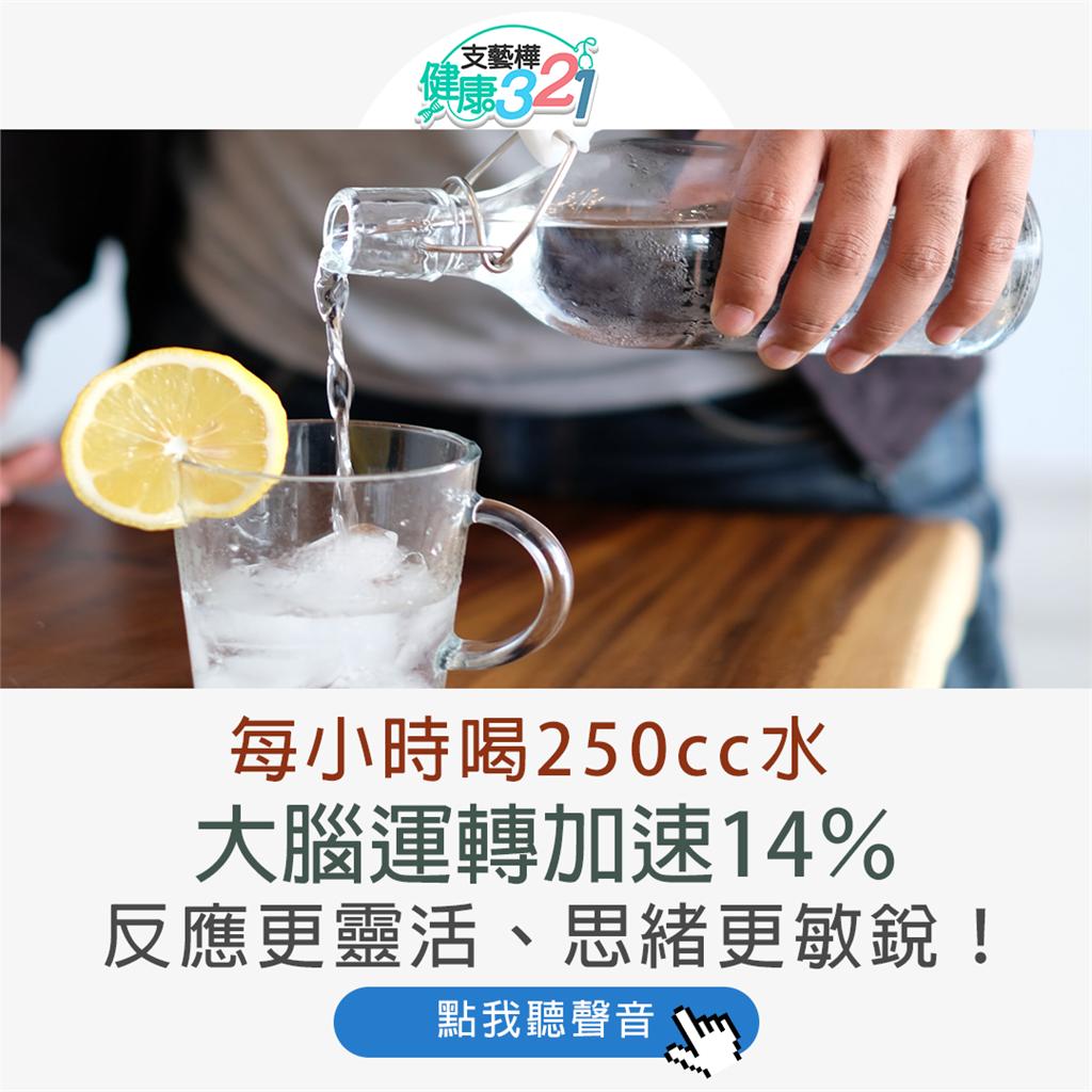 每小時喝250cc水 大腦轉速加速14% 反應更靈活、思緒更敏銳