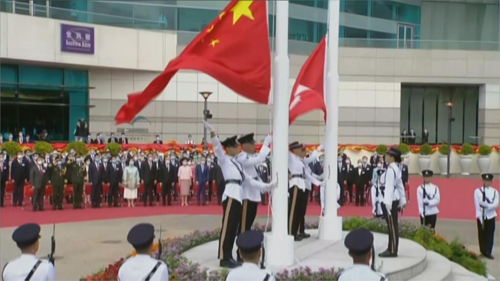 港版國安法生效後首個七一 港府舉行慶祝儀式
