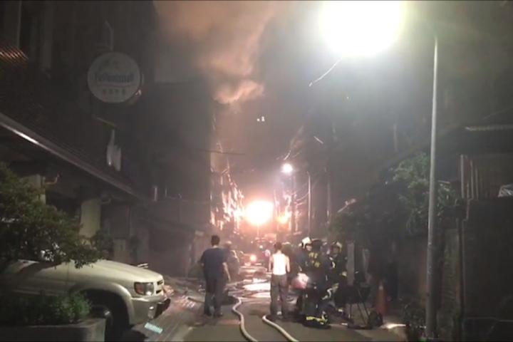 劍潭發生火警 一男一女無生命跡象
